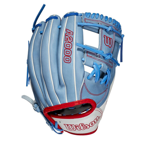 "Wilson 2020 A2000 1787 GOTM 11.75"" Infield Glove WBW1003051175 Sept 2020 - Sky Blue - HIT A Double"