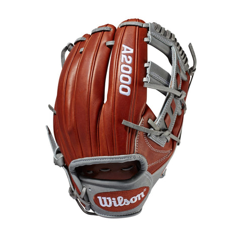 "Wilson 2019 A2000 1786 11.50"" Infield Glove WTA20RB19LEMAY - Copper Gray"