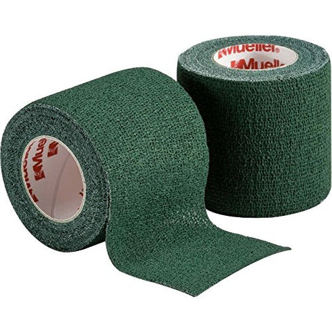 "Mueller Cohesive Spatting Tape One Roll  2"" X 6 Yds - Green - Baseball Accessories, Softball Accessories, Sports Accessories - Hit A Double"