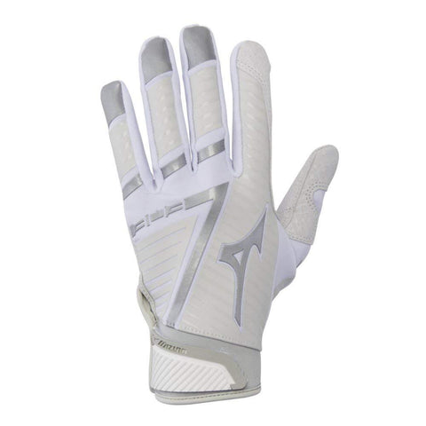 Mizuno B-303 Batting Gloves - White Gray