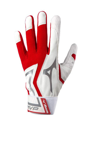 Mizuno Youth MVP Batting Gloves - Red White