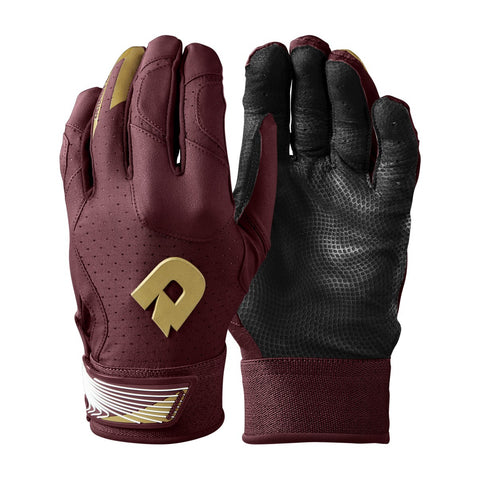 DeMarini CF Adult Batting Gloves - Maroon