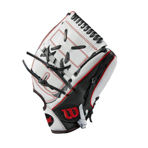 "Wilson 2019 A2000 MA14 GM 12.25"" Pitcher's FP Glove WTA20RB19MA14GM - White Black - Hit A Double - 1"