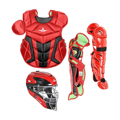 All-Star Youth System 7 Axis Elite Pro Catcher's Set (Ages 9-12) - Scarlet Black