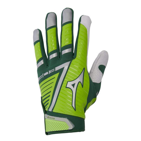 Mizuno B-303 Youth Batting Gloves - Green Lime