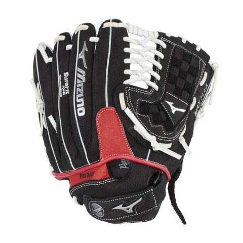 "Mizuno Prospect Paraflex Youth 11.50"" Utility Glove GPT1150Y2 - Black Red"