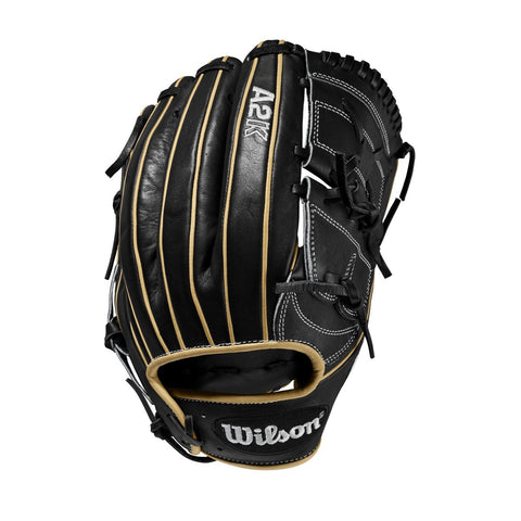 "Wilson A2K B2 12.00"" Pitcher's Glove WTA2KRB20B2 - Black Cork - Hit A Double - 1"