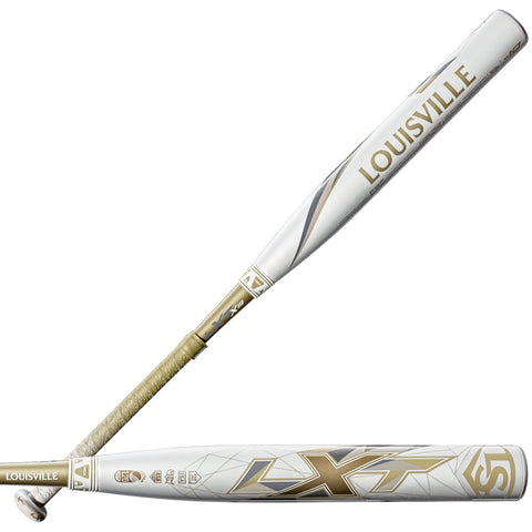 Louisville Slugger 2019 LXT X19 (-9) Fastpitch Bat - White Vegas Gold