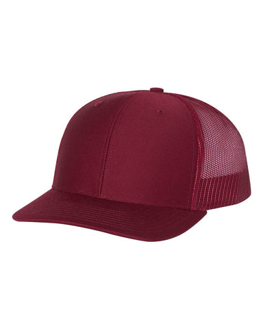 Richardson 112 Snapback Trucker Cap - Cardinal - HIT A Double