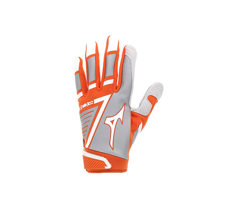 Mizuno B-303 Youth Batting Gloves - Orange White