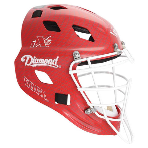 Diamond DCH-Edge Pro Catcher's Helmet Large - Scarlet White