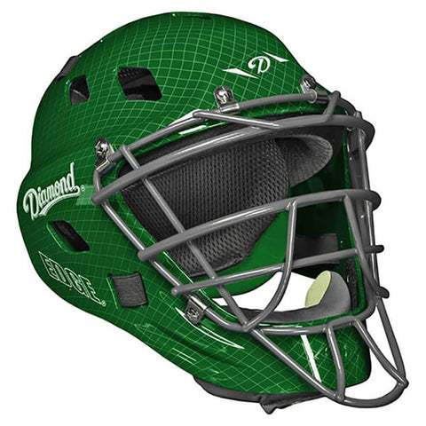 Diamond DCH-Edge Pro Catcher's Helmet Large - Dark Green