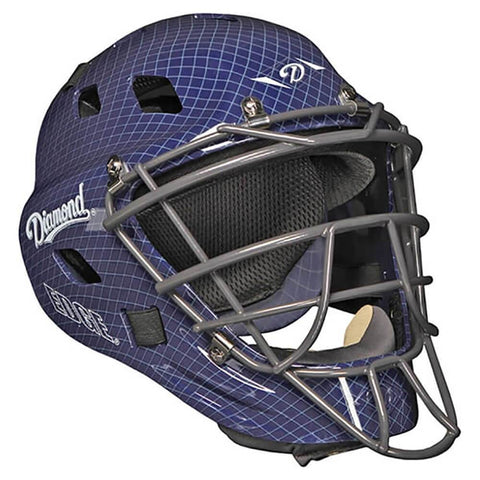 Diamond DCH-Edge Pro Catcher's Helmet Large - Navy