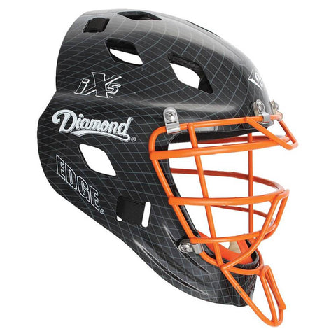 Diamond DCH-Edge Pro Catcher's Helmet Large - Black Orange