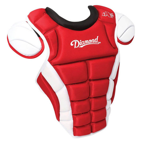 "Diamond DCP-iX5-MED 14.5"" Baseball Chest Protectors - Scarlet White"