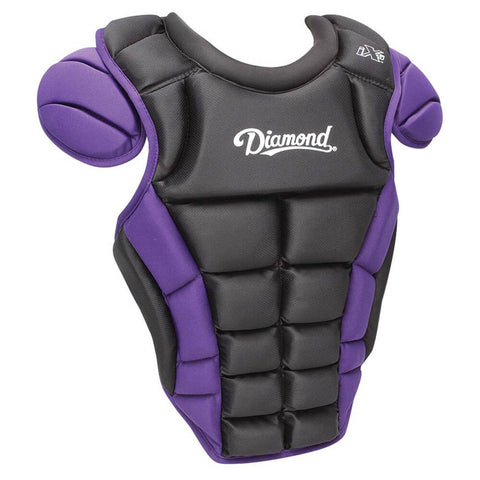 "Diamond DCP-iX5-MED 14.5"" Baseball Chest Protectors - Black Purple"