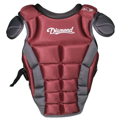 "Diamond DCP-iX5-MED 14.5"" Baseball Chest Protectors - Maroon"