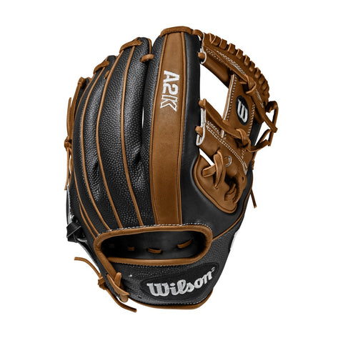 "Wilson A2K 1786SS 11.50"" Infield Glove WTA2KRB201786SS - Tan Black - Hit A Double - 1"