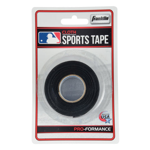 "Franklin Cloth Sports Tape (1"" x 10 yrds) - Black - Baseball Accessories, Softball Accessories - Hit A Double"