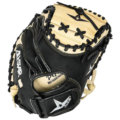 "All-Star Youth 31.50"" CM1011 Catcher's Mitt - Tan Black - Baseball Gloves - Hit A Double - 1"