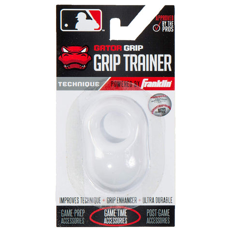 Franklin Sports MLB Gator Grip Trainer White - Baseball Accessories, Softball Accessories - Hit A Double - 1