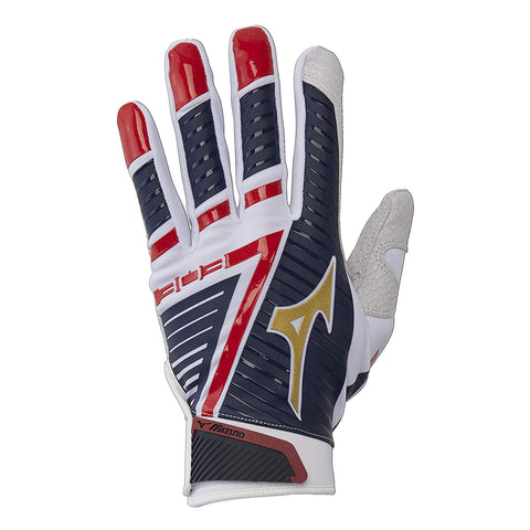 Mizuno B-303 Youth Batting Gloves - Stars & Stripes