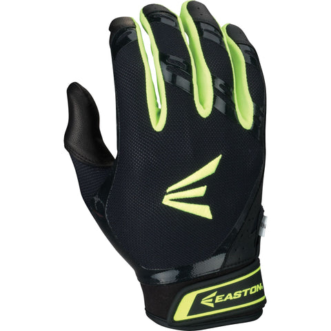 Easton HF7 Hyperskin Fastpitch Batting Gloves - Black Optic