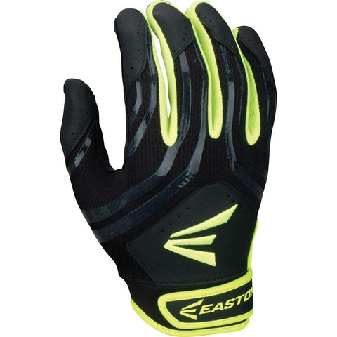 Easton HF3 Hyperskin Fastpitch Youth Batting Gloves - Black Optic