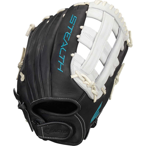 "Easton Stealth Pro 12.75"" FP Outfield Glove - Black White"