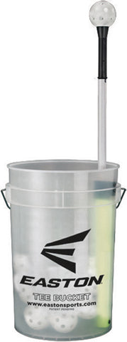 "Easton Tee Bucket with 30 9"" Training Balls - Black"