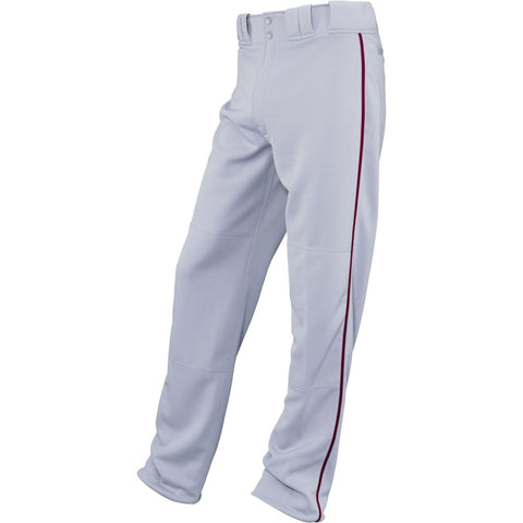 Easton Adult Quantum Plus Pant with Piping Gray Maroon