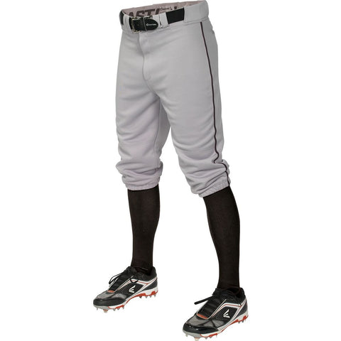 Easton Pro+ Piped Knicker Youth Baseball Pant - Gray Black - Baseball Apparel - Hit A Double