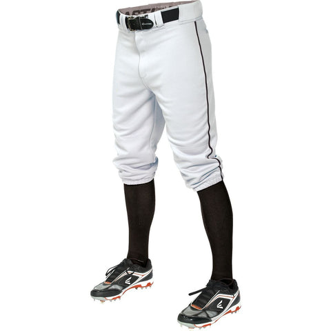 Easton Pro+ Piped Knicker Youth Baseball Pant - White Black - Baseball Apparel - Hit A Double