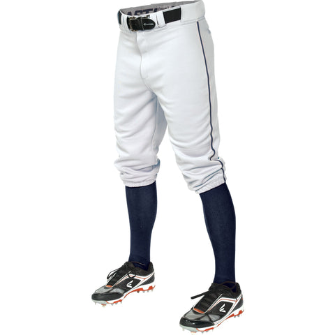 Easton  Pro+ Piped Knicker Baseball Pant - White Navy - Baseball Apparel - Hit A Double