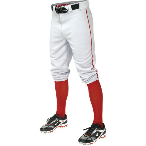 Easton Pro+ Piped Knicker Youth Baseball Pant - White Red - Baseball Apparel - Hit A Double