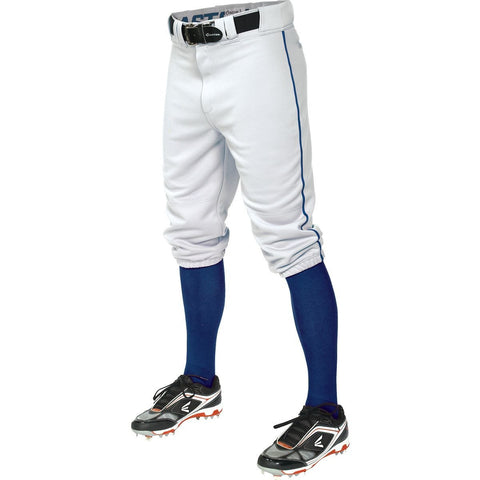Easton Pro+ Piped Knicker Youth Baseball Pant - White Royal - Baseball Apparel - Hit A Double