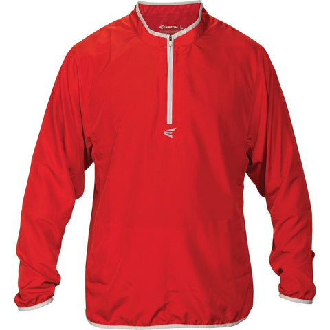 Easton M5 Cage Long Sleeve Youth Jacket - Red Light Gray - Baseball Apparel, Softball Apparel - Hit A Double