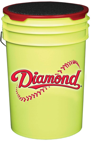 Diamond Ball Bucket - Yellow - Baseball Accessories - Hit A Double