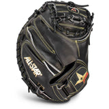 "All-Star Pro-Elite Series 35.00"" CM3000SBK Catcher's Mitt - Black"