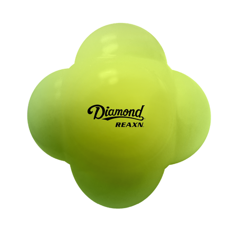 Diamond REAXN 6-Sided Agility Rubber Fielding Ball - Yellow