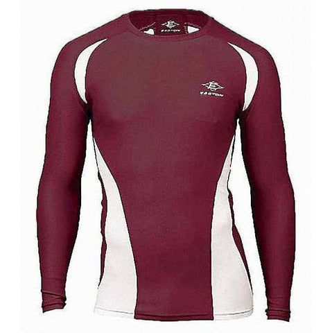 Easton Qualifier Adult Compression Long Sleeve Jersey A164345 Maroon