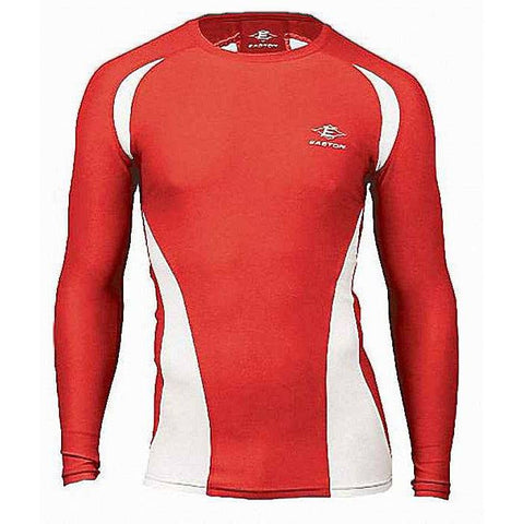 Easton Qualifier Adult Compression Long Sleeve Jersey A164345 Red