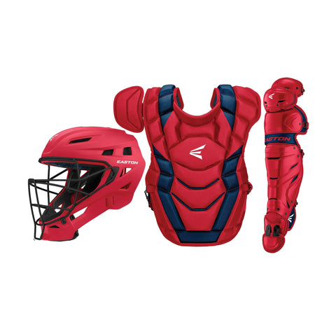 Easton Elite X Youth Catcher's Set - Red Navy - Catcher's Gear - Hit A Double