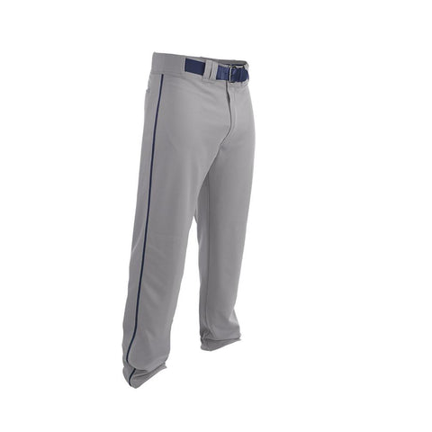 Easton Youth Rival 2 Piped Baseball Pants - Gray Navy - Baseball Apparel - Hit A Double