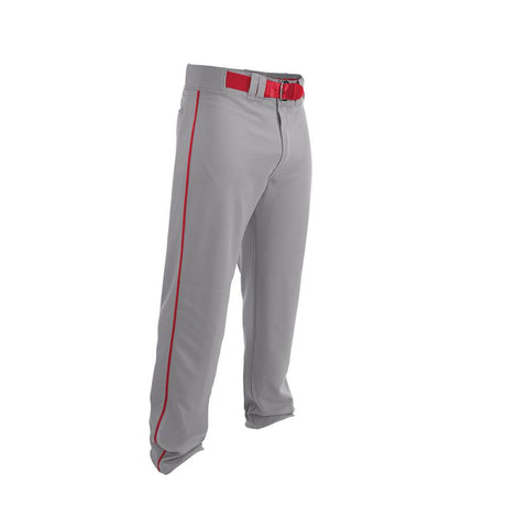 Easton Adult Rival 2 Piped Baseball Pants - Gray Red - Baseball Apparel - Hit A Double