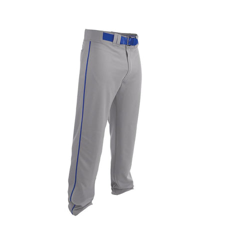 Easton Adult Rival 2 Piped Baseball Pants - Gray Royal - Baseball Apparel - Hit A Double