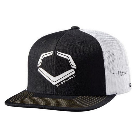 EvoShield Crunch Snapback Hat - Black White