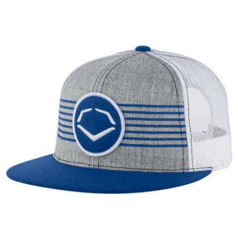 EvoShield Throwback Patch Snapback Hat - Gray Royal