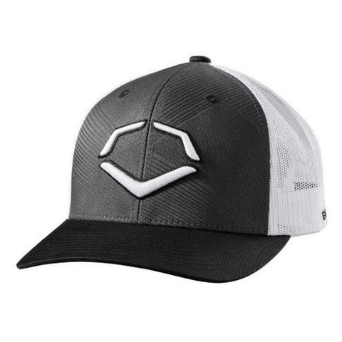EvoShield Zig Zag Snapback Hat - Black White