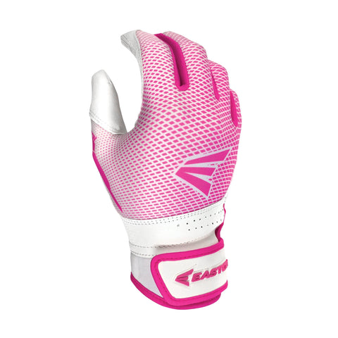 Easton Hyperlite Fastpitch Girl's Batting Gloves - White Pink